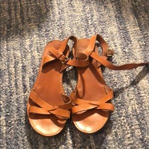 Madewell leather sandals, 7.5